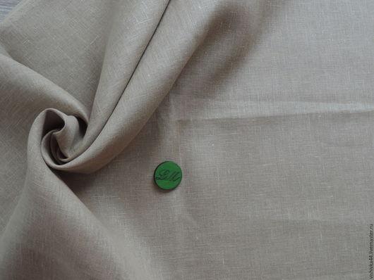 Шитье ручной работы. Ярмарка Мастеров - ручная работа. Купить ткань лен сетка бежево-песочная (коричневая). Handmade. Лен