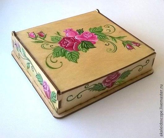 """Шкатулки ручной работы. Ярмарка Мастеров - ручная работа. Купить Шкатулка """"Розы"""". Handmade. Разноцветный, шкатулка, цветы, подарок девушке"""