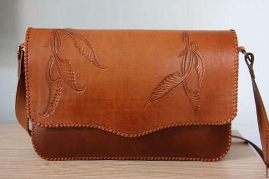 Женские сумки ручной работы. Ярмарка Мастеров - ручная работа. Купить Женская кожаная сумка. Handmade. Натуральная кожа, коричневый