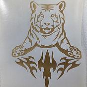 Дизайн и реклама ручной работы. Ярмарка Мастеров - ручная работа Виниловая наклейка. Тигр. Draft. Handmade.