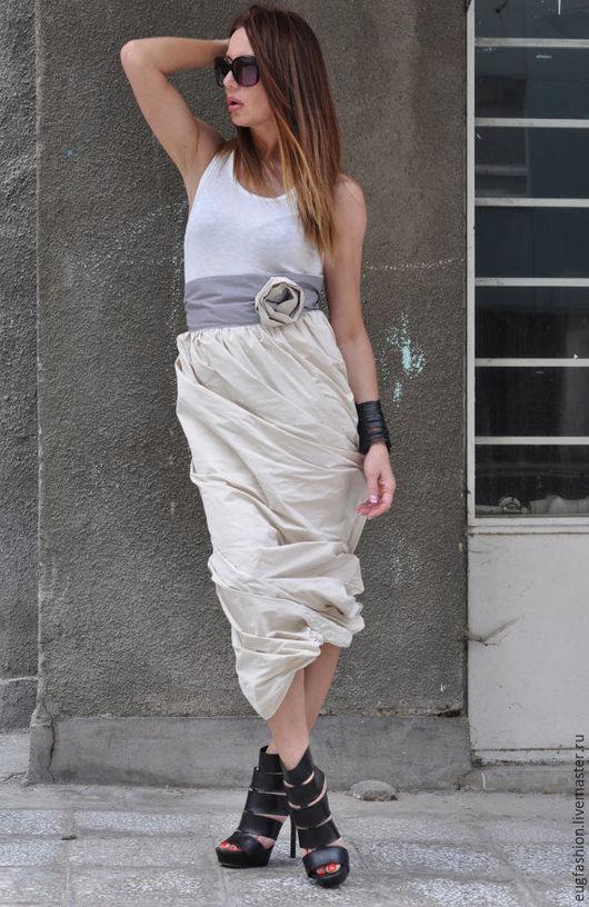 Длинная юбка. Модная юбка. Юбка стильная.