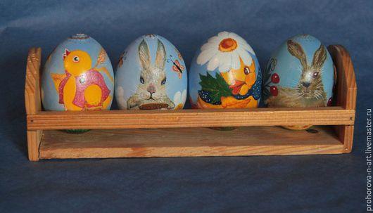 Подарки на Пасху ручной работы. Ярмарка Мастеров - ручная работа. Купить Пасхальные яйца. Handmade. Комбинированный, яйцо деревянное