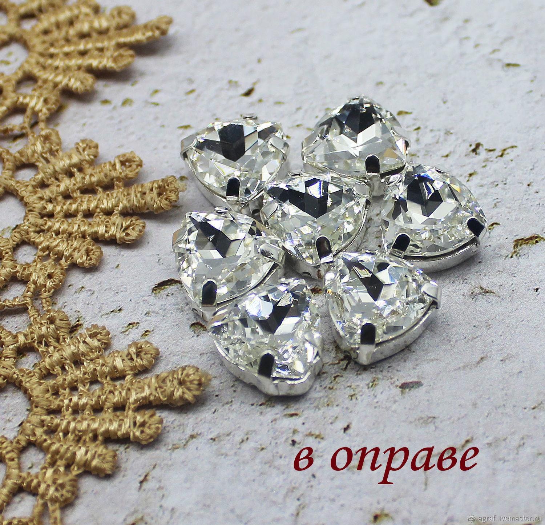 Rhinestones Premium Trillian 12 mm Diamond in gray and gold. rims, Rhinestones, Solikamsk,  Фото №1