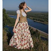 Одежда handmade. Livemaster - original item Skirt from staple the Provence (dairy). Handmade.