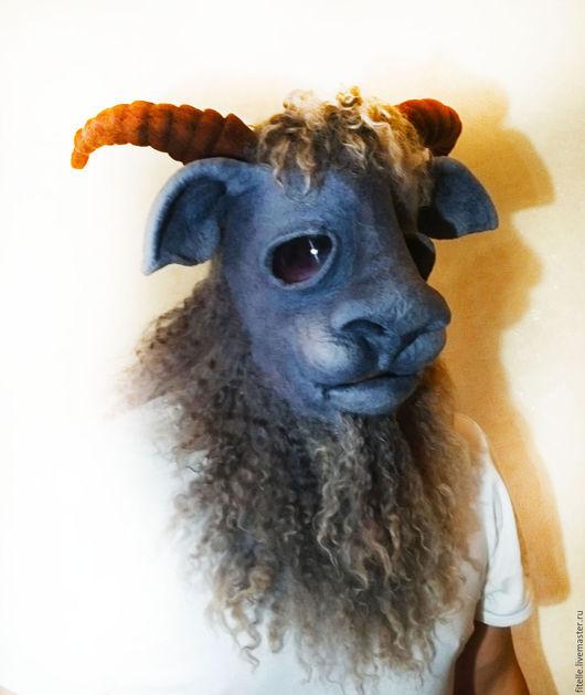 """Карнавальные костюмы ручной работы. Ярмарка Мастеров - ручная работа. Купить 3D маска """"Серенький козлик"""". Handmade. Серый, козленок"""