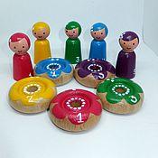 Куклы и игрушки ручной работы. Ярмарка Мастеров - ручная работа Монтессори сортер Феечки Деревянная игрушка. Handmade.