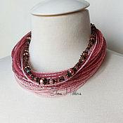 """Украшения ручной работы. Ярмарка Мастеров - ручная работа Колье из бисера """"pink thread"""". Handmade."""