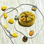 """Pendants handmade. Livemaster - original item Кулон """"Желтый солнечный"""". Handmade."""