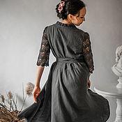 Одежда handmade. Livemaster - original item Linen dress with buttons. Handmade.