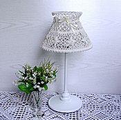 Для дома и интерьера handmade. Livemaster - original item Table lamp with knitted lampshade. Handmade.