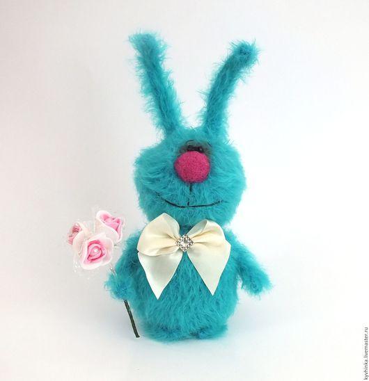 Игрушки животные, ручной работы. Ярмарка Мастеров - ручная работа. Купить Заяц Блу (вязаный заяц, игрушка, подарок). Handmade.