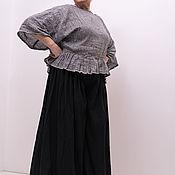 Блузки ручной работы. Ярмарка Мастеров - ручная работа Льняная блузка с бантиками на спине. Handmade.