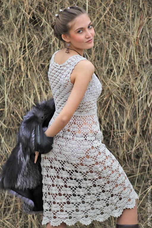 Платья ручной работы. Ярмарка Мастеров - ручная работа. Купить Платье Нежный Лён. Handmade. Лен, кантри стиль