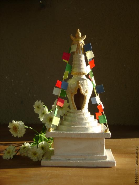 Медитация ручной работы. Ярмарка Мастеров - ручная работа. Купить шкатулка Ступа Керамика. Handmade. Ступа, храм, золотой, Алтарь