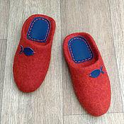 Обувь ручной работы handmade. Livemaster - original item Felted Slippers-flip-flops for Fish. Handmade.