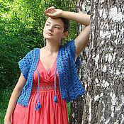 """Одежда ручной работы. Ярмарка Мастеров - ручная работа Вязаный жилет """"Азурро"""". Handmade."""