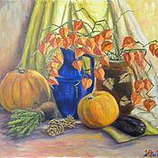 Картины и панно ручной работы. Ярмарка Мастеров - ручная работа Натюрморт с физалисом и розмарином. Handmade.
