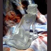 """Для дома и интерьера ручной работы. Ярмарка Мастеров - ручная работа Скульптура из хрусталя """" Льдинка"""". Handmade."""