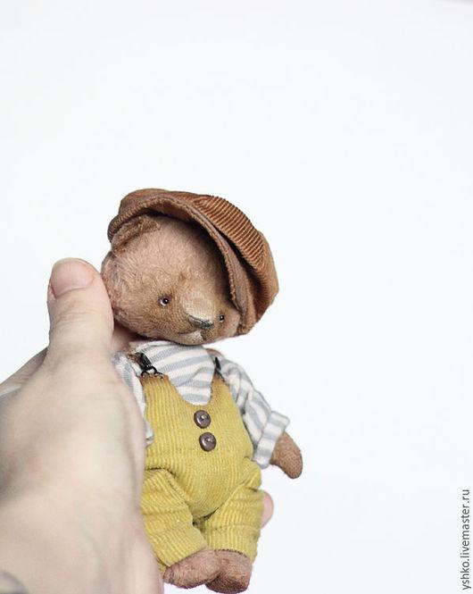 Мишки Тедди ручной работы. Ярмарка Мастеров - ручная работа. Купить Шурик мишка тедди 12,5см. Handmade. Бежевый