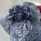 Одежда ручной работы. Ярмарка Мастеров - ручная работа валяный жилет длинный. Handmade.