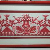 Народные украшения ручной работы. Ярмарка Мастеров - ручная работа Вышитая картина Берегини.. Handmade.