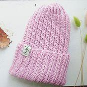 Аксессуары ручной работы. Ярмарка Мастеров - ручная работа Шапка бини Розовая пыль. Handmade.