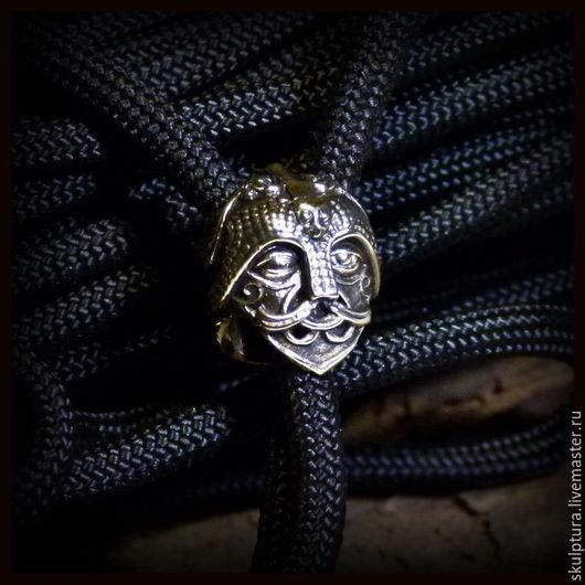 """Для украшений ручной работы. Ярмарка Мастеров - ручная работа. Купить Бусина """"Маска Одина"""" для темляков или браслетов. Handmade."""