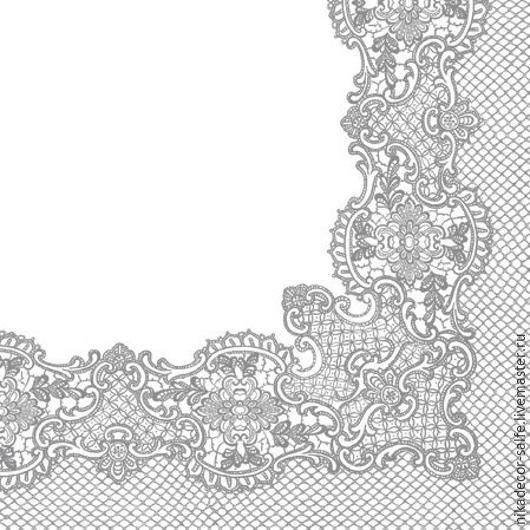 Декупаж и роспись ручной работы. Ярмарка Мастеров - ручная работа. Купить Серебряная тесьма (SDL089208) - салфетка для декупажа. Handmade. Разноцветный