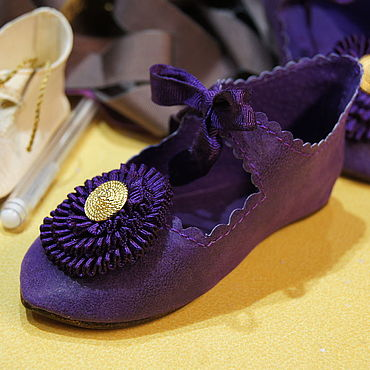 """Куклы и игрушки ручной работы. Ярмарка Мастеров - ручная работа Обувь для Антикварной и современной куклы """"Violet French"""". Handmade."""