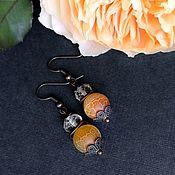 Украшения handmade. Livemaster - original item Honey autumn earrings made of natural citrine and agate. Handmade.