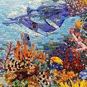 """Для дома и интерьера ручной работы. Ярмарка Мастеров - ручная работа Панно """"Подводный мир"""" мозаика. Handmade."""