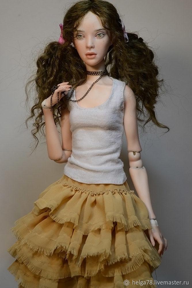 Шарнирная фарфоровая кукла Карина, Шарнирная кукла, Санкт-Петербург,  Фото №1