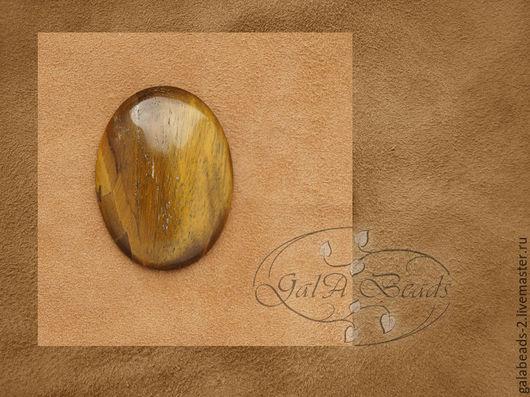 Для украшений ручной работы. Ярмарка Мастеров - ручная работа. Купить Кабошон тигровый глаз натуральный овал 472. Handmade.