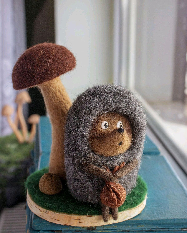 Ёжик из тумана, Войлочная игрушка, Краснодар,  Фото №1