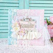 Канцелярские товары ручной работы. Ярмарка Мастеров - ручная работа Альбом для девочки на первый год жизни розовый+мятный. Handmade.