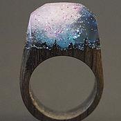 """Украшения ручной работы. Ярмарка Мастеров - ручная работа Деревянное кольцо """"Волшебная  принцесса 27"""", кольцо из дерева. Handmade."""