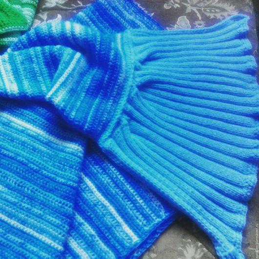 """Пледы и одеяла ручной работы. Ярмарка Мастеров - ручная работа. Купить Плед """"Хвост русалки"""". Handmade. Плед, синий"""