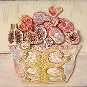 """Картины и панно ручной работы. Ярмарка Мастеров - ручная работа Натюрморт """"Розовые гранаты"""". Handmade."""