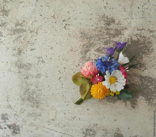 Броши ручной работы. Ярмарка Мастеров - ручная работа. Купить Брошь Летний луг. Handmade. Комбинированный, цветы из фоамирана