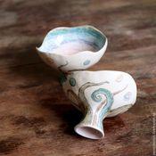 Посуда ручной работы. Ярмарка Мастеров - ручная работа Карл и Нэйт: радужные близнецы-ктулху. Handmade.