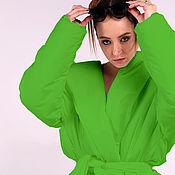 Одежда handmade. Livemaster - original item Outerwear: Bright hooded down jacket