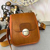 Классическая сумка ручной работы. Ярмарка Мастеров - ручная работа Кожаная женская сумочка. Handmade.