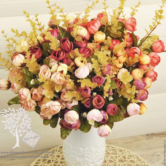 Материалы для флористики ручной работы. Ярмарка Мастеров - ручная работа. Купить Большой букет осенних роз (36 бутонов). Handmade.