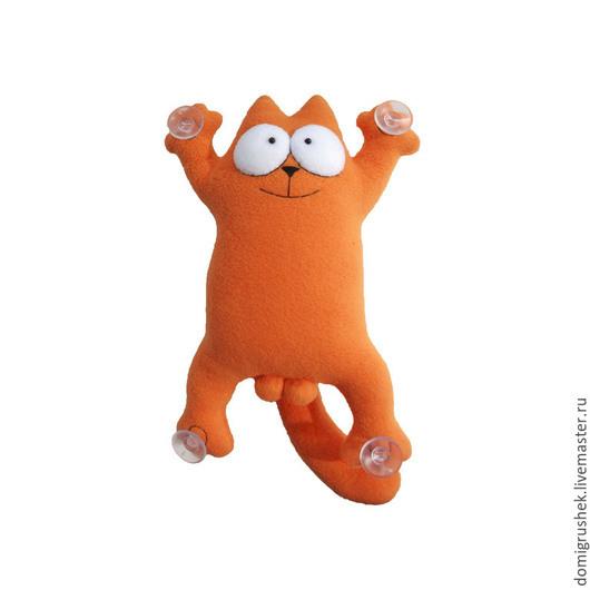 Игрушки животные, ручной работы. Ярмарка Мастеров - ручная работа. Купить Кот Саймона в авто. Handmade. Оранжевый, Саймон, подарок