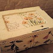 """Для дома и интерьера ручной работы. Ярмарка Мастеров - ручная работа Короб """"Луговые травы"""". Handmade."""