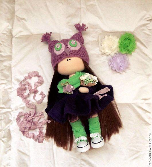 Коллекционные куклы ручной работы. Ярмарка Мастеров - ручная работа. Купить фиолетовый совенок. Handmade. Тёмно-фиолетовый, подарок девушке