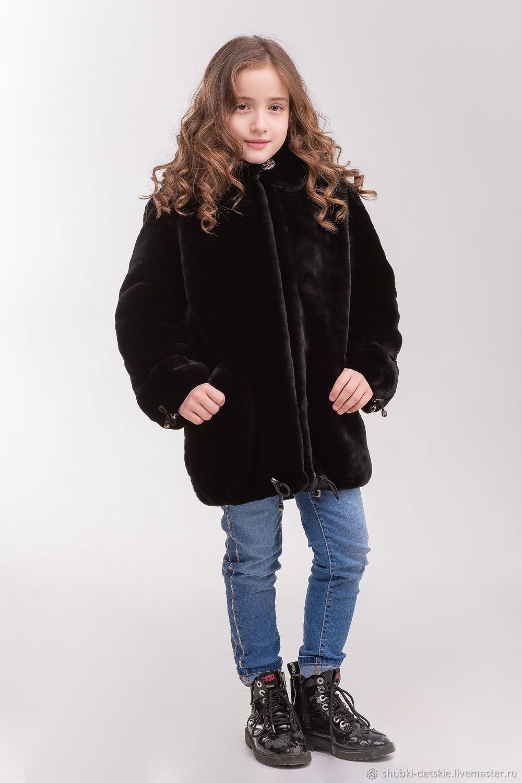 Одежда для девочек, ручной работы. Ярмарка Мастеров - ручная работа. Купить Детская меховая куртка из мутона. Handmade. Для детей