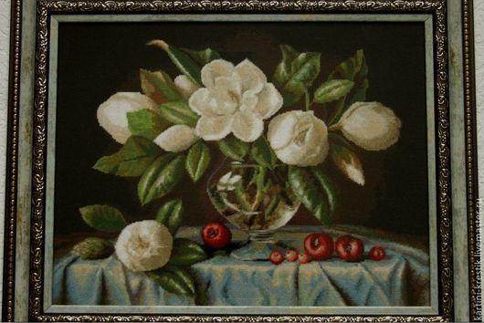 Картины цветов ручной работы. Ярмарка Мастеров - ручная работа. Купить Букет магнолий. Handmade. Разноцветный, картина в подарок, цветы