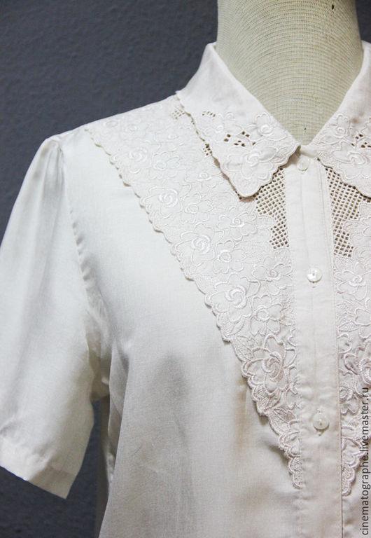 Одежда. Ярмарка Мастеров - ручная работа. Купить Блузка 60-е годы JAPAN. Handmade. Бежевый, винтаж, винтажная блузка