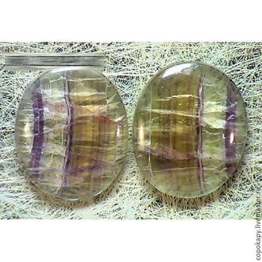 Для украшений ручной работы. Ярмарка Мастеров - ручная работа. Купить Флюорит,пара (7162). Handmade. Желтый, бледно-желтый